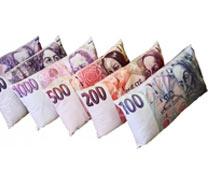 Polštáře s bankovkami
