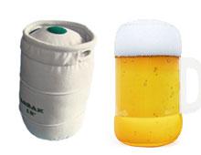Polštář ve tvaru pivního sudu