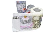 Toaletní papír - Toaleťák - 5000 Kč barevný