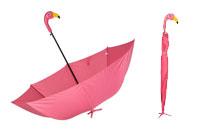 Deštník stojící na noze - Plameňák