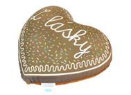 Polštářek ve tvaru perníkového srdce