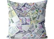 Polštář plný peněz
