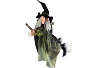 Dekorace - čarodějnice na koštěti