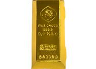 Zlatá cihla z mléčné čokolády