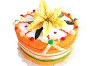 Jednopatrový textilní dort Oranžová lilie